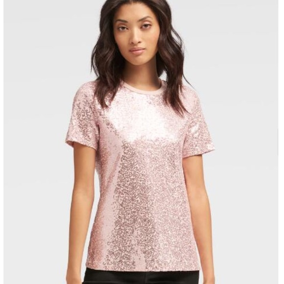 Dkny Tops - DKNY Blush Pink Sequin top